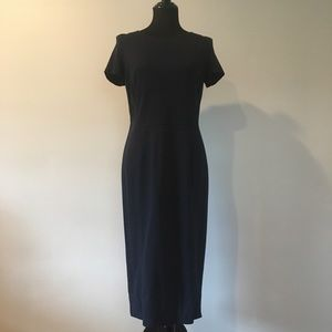 Navy blue short-sleeve dress